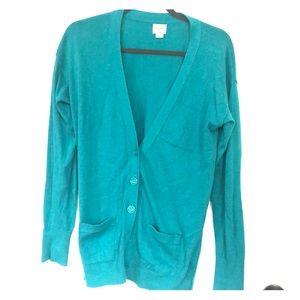 Women's Teal Mossimo Large Cardigan
